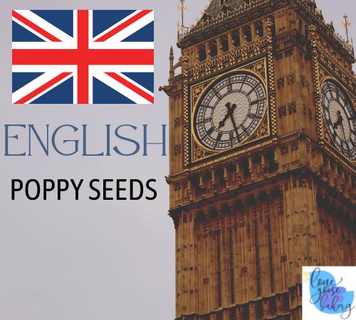 English poppy seeds lone goose
