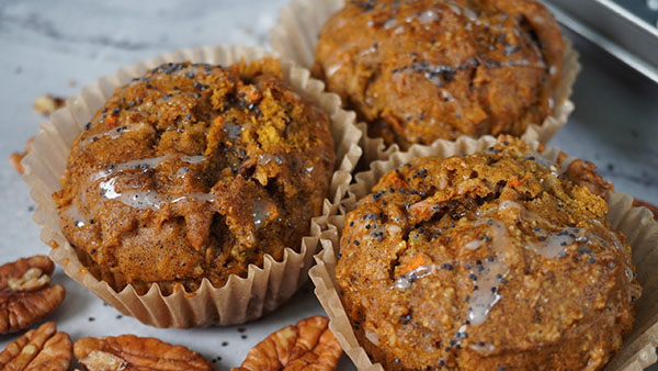 Close up of muffins