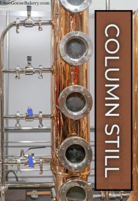 brandy column still for continuous distillation
