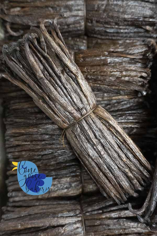 a bundle of Madagascar bourbon vanilla beans